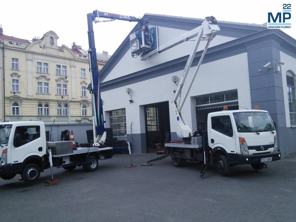Instalace loga Mercedes M3000 Praha